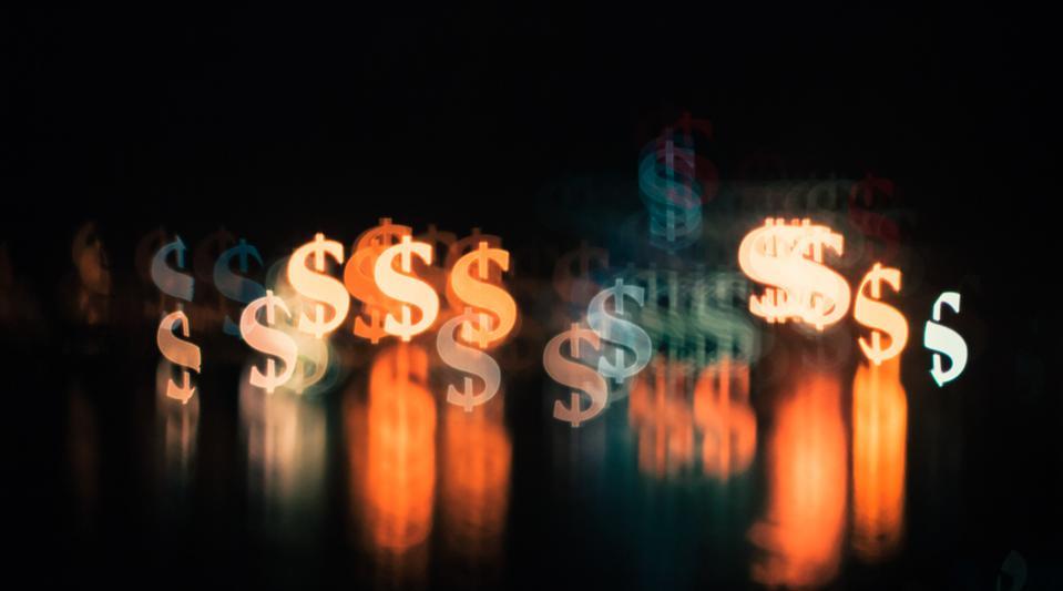 Dollar signs in lights