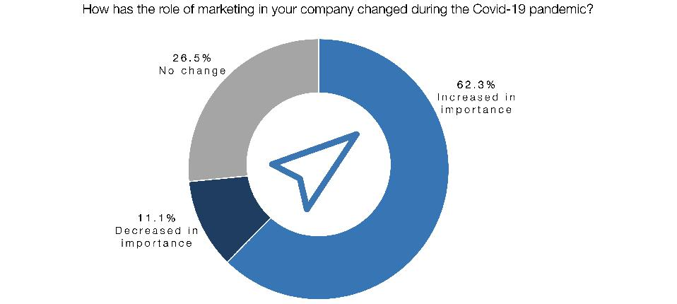 Chart: How has the role of marketing in your company changed during the Covid-19 pandemic?
