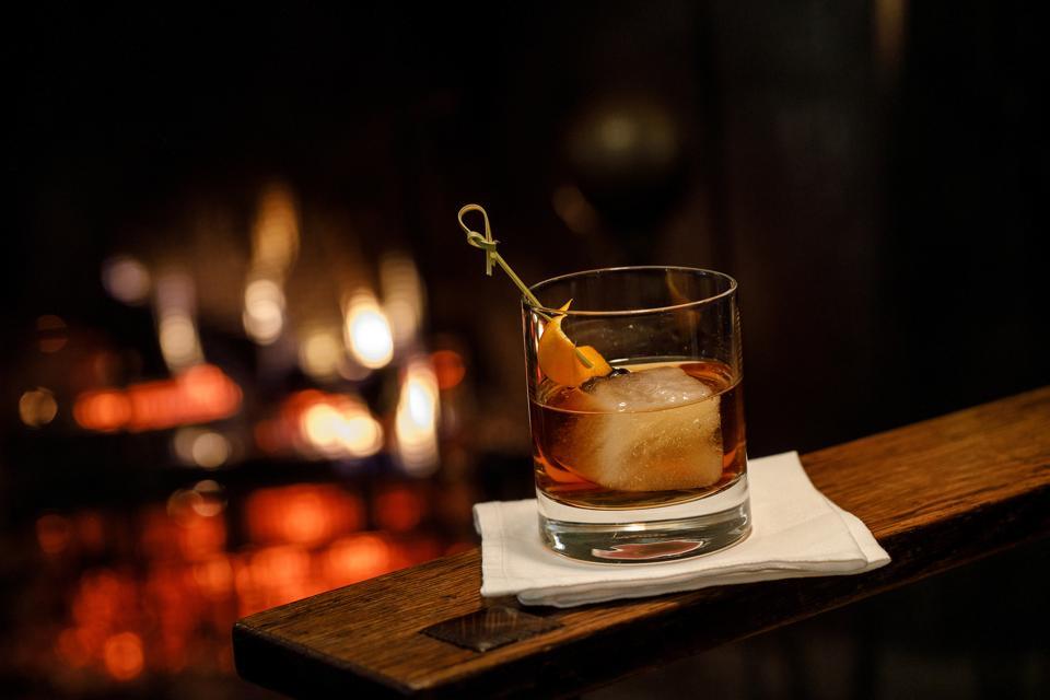 Jefferson's Ocean bourbon over ice with an orange twist