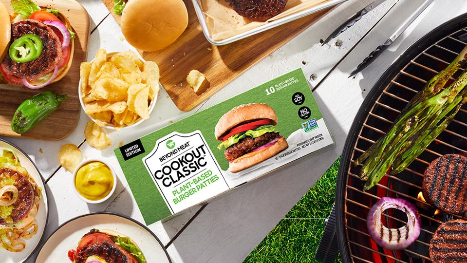 Beyond Meat Cookout Classic plant-based vegan meatless patties