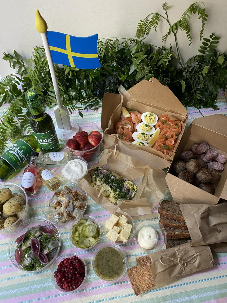 midsummer picnic basket from Aquavit