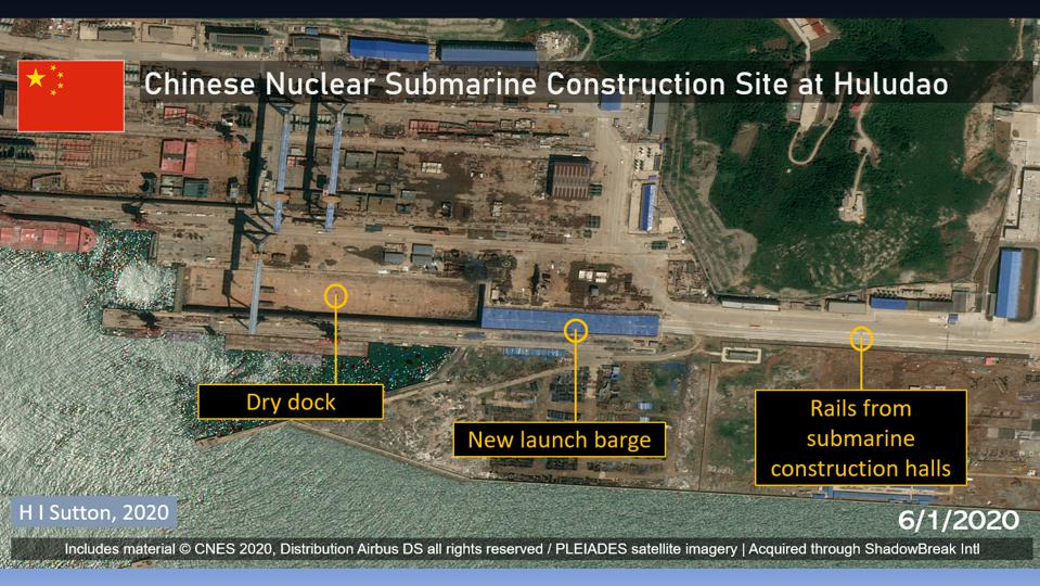 Chinese Navy Submarine construction site at Huludao