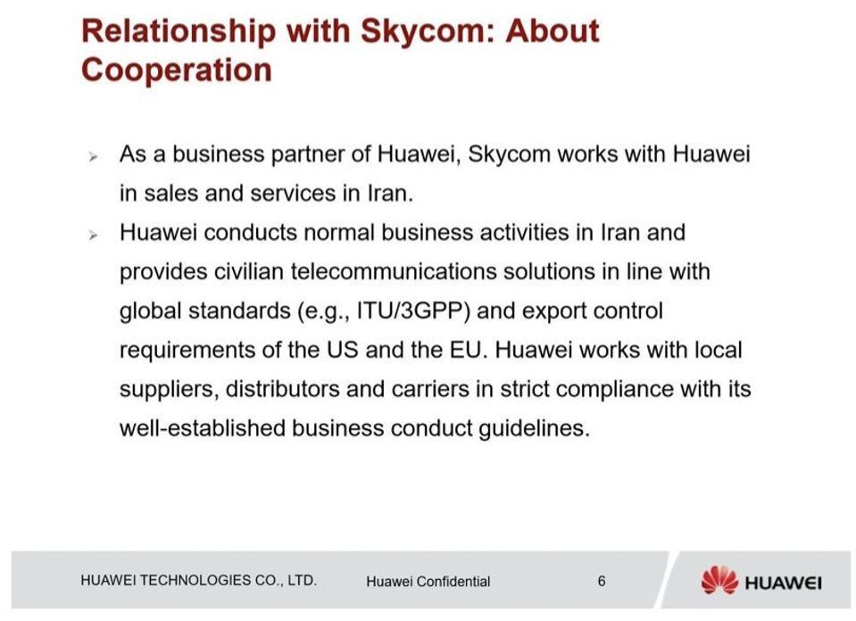 Huawei presentation to HSBC, 2013