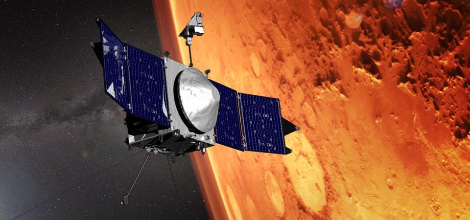 NASA's MAVEN spacecraft at Mars.