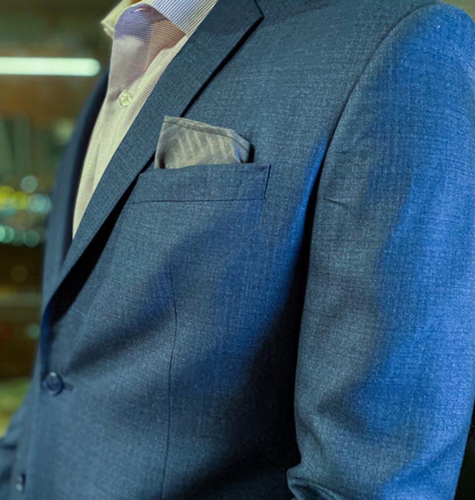 Never forget your facemask again! Debonair Face Mask doubles as a Pocket Square