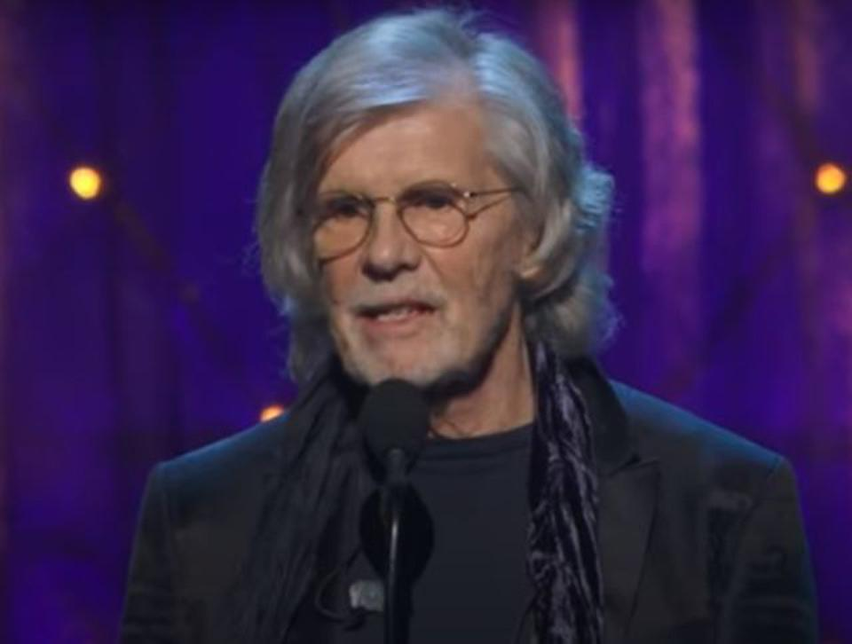 Rod Argent, Rock and Roll Hall of Fame 2019 inductee, giving his acceptance speech.