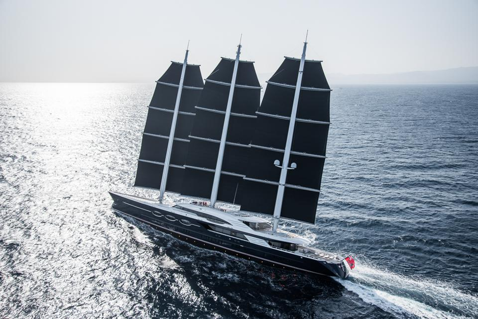 Is this the Ultimate Sustainable Superyacht? In the right conditions, Black Pearl can sail close to 30 knots without needing to run her main engines.