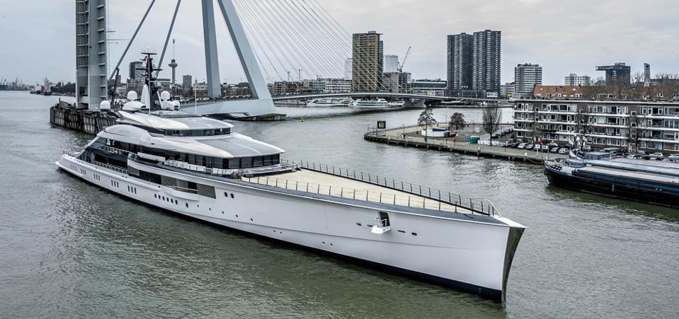 Dallas Cowboy's owner Jerry Jones' sleek 354-foot-long superyacht is designed for maxium eficency underway.