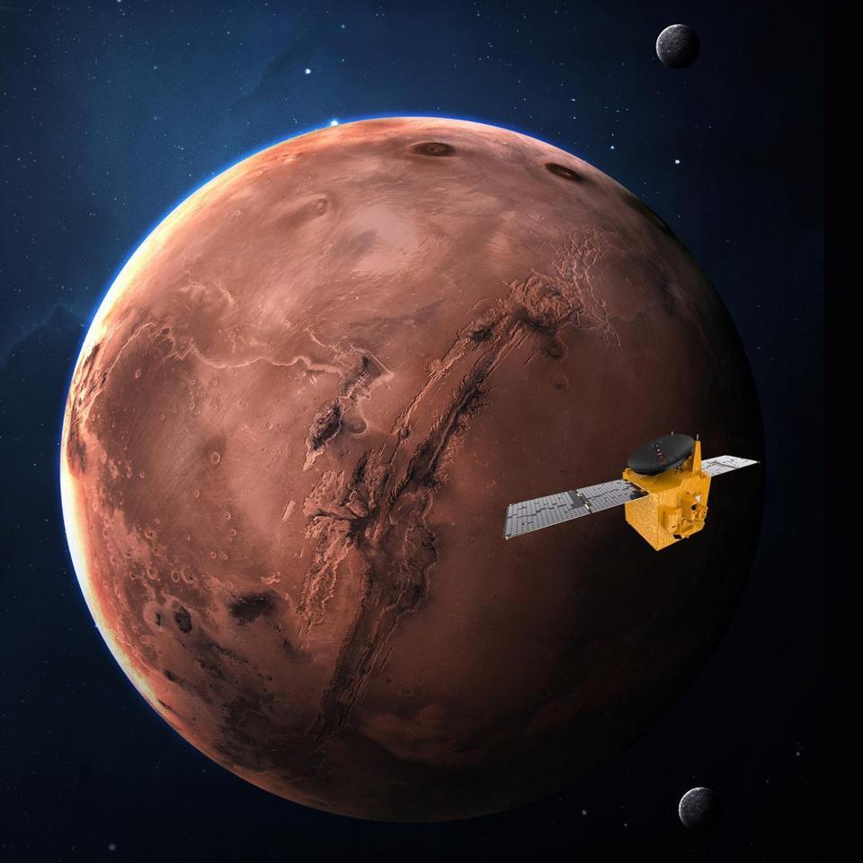 El estudio Hope tiene como objetivo llegar a Marte en febrero de 2021 y crear la primera imagen completa de Marte ????  Martes clima todo el año.