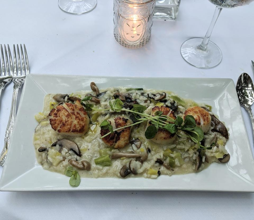 Viking Village scallops are an enticing entree on the menu at The Gables, one of Jersey Shore culinary expert Deborah Smith's recommended restaurants in Beach Haven, New Jersey.
