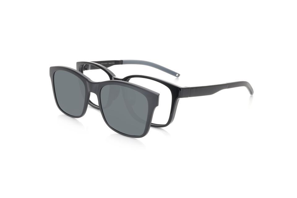 Magnetic clip-on sunglasses over prescription glasses