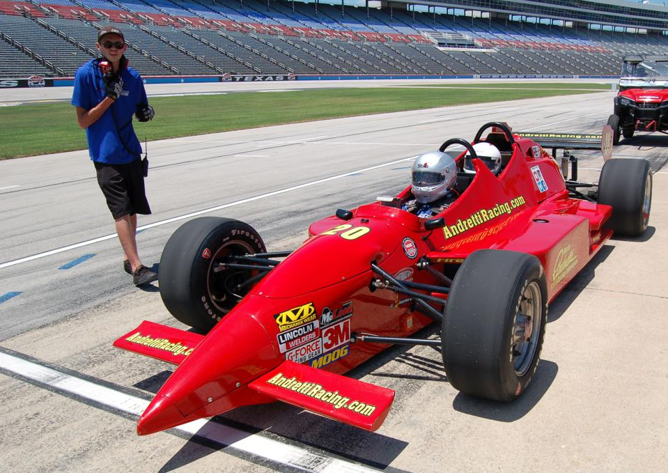 At Texas, ridealongs were given in both stock cars and Indy cars.