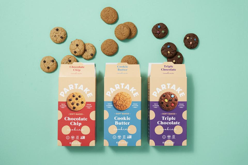 Partake Foods' signature line of cookies.