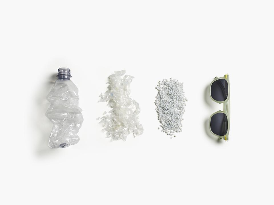 How a bottle gets turned into sunglasses