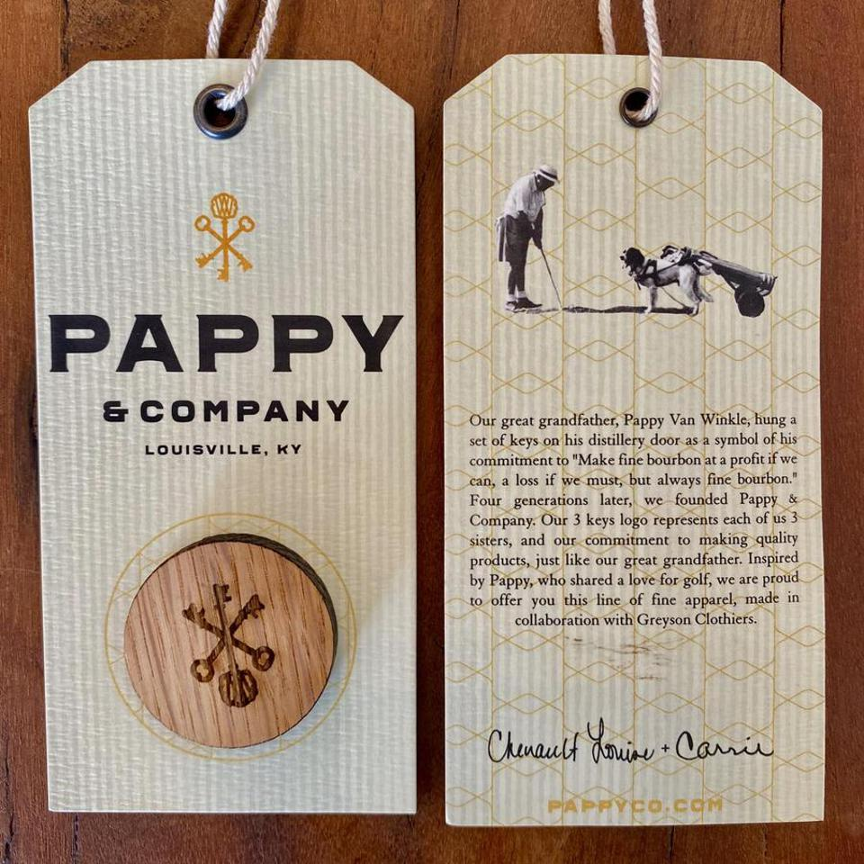 Hang tag and ball marker attached to each limited-edition men's polo shirt