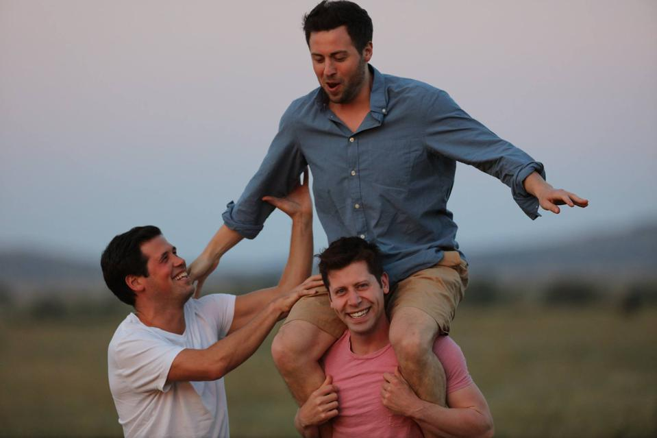 Sam Altman, seen here with brothers Max and Sam, has launched a new fund called Apollo.