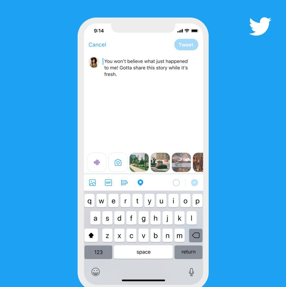 Twitter's new talk to tweet feature
