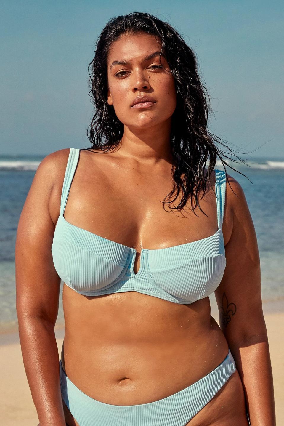 Woman wearing Monday Swimwear bikini
