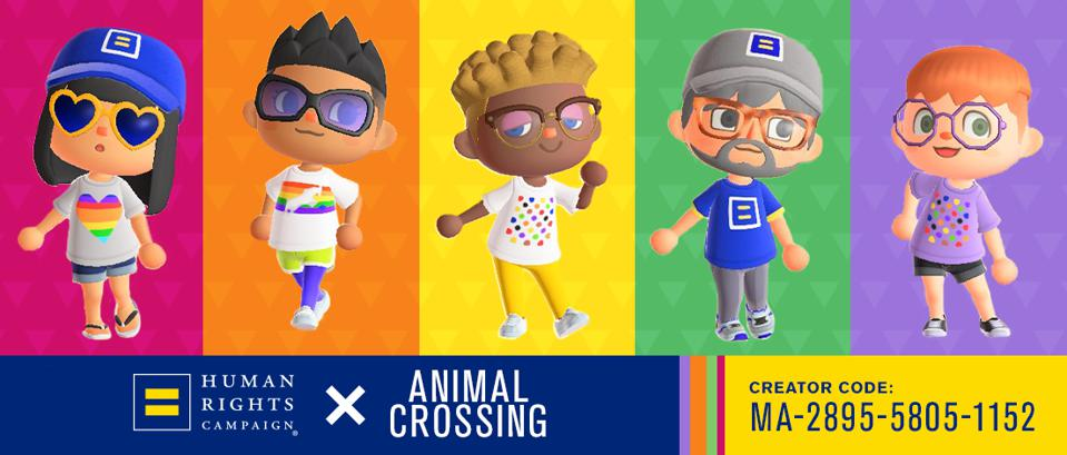 Human Rights Campaign Animal Crossing Pride LGBT You can get HRC inspired Pride Tshirts in the Pride Inside toolkit