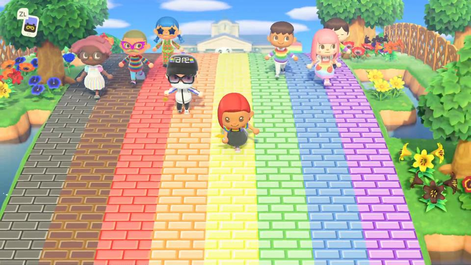 LGBT Pride is coming to animal crossing get pride tshirts, walkways, furniture and flags