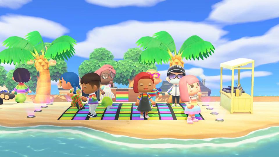 We Are Social's Pride Island LGBT Animal Crossing Global Pride 2020 mashup