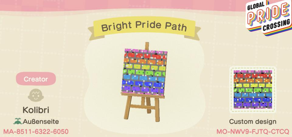 Global Pride Crossing Bright Pride Path