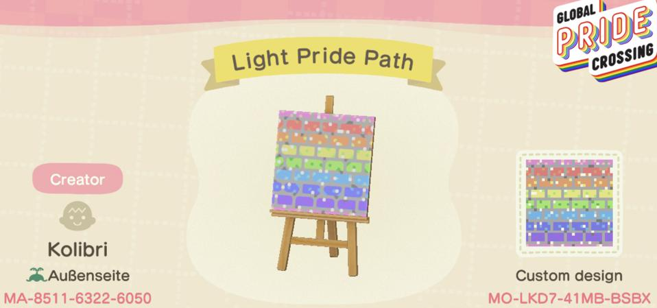 Global Pride Crossing Light Pride Path
