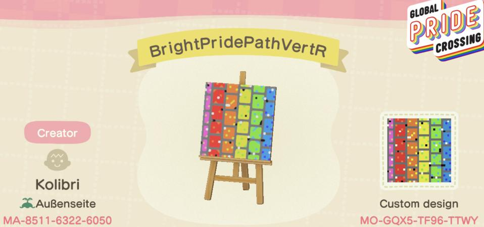 Global Pride Crossing Bright Pride Path VertR