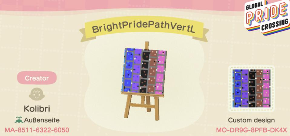 Global Pride Crossing Bright Pride Path VertL