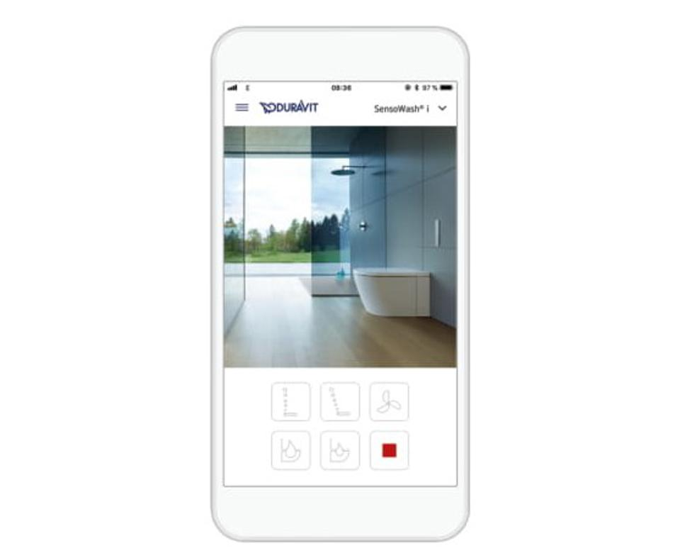Duravit smartphone app for toilet flushing