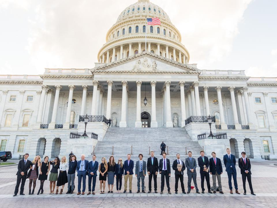 POW Alliance outdoors athletes in Washington, D.C. to lobby for climate change.