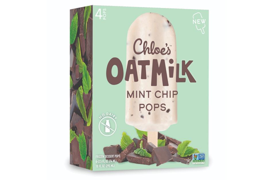 Chloe's Oat Milk Mint Chip Frozen Dessert Pops