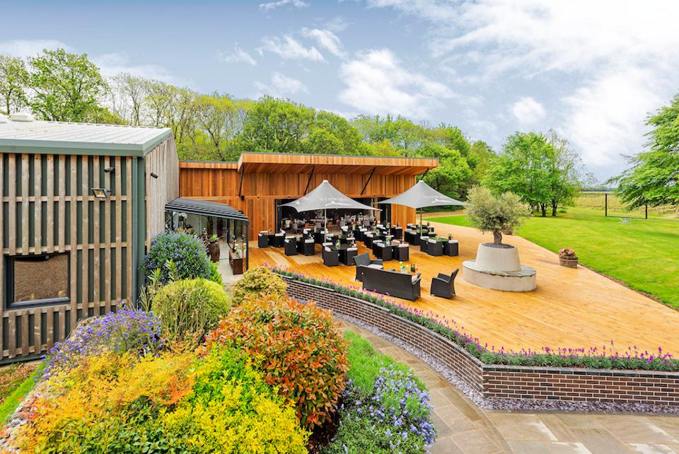 English winery Tinwood Estate in West Sussex, England.
