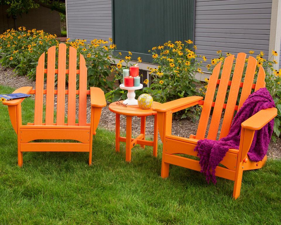 Polywood Classic Folding Adirondack Chair, orange