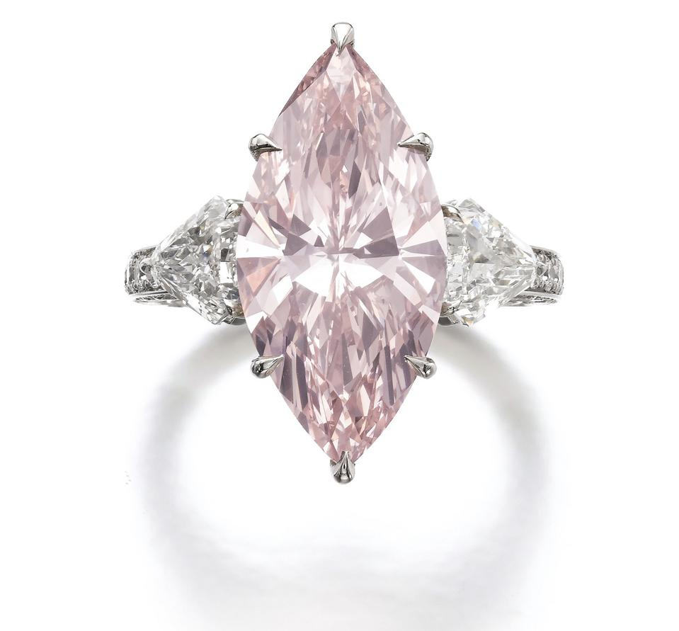 7-carat fancy intense light pink diamond, estimate: $2.5 – $3.5 million