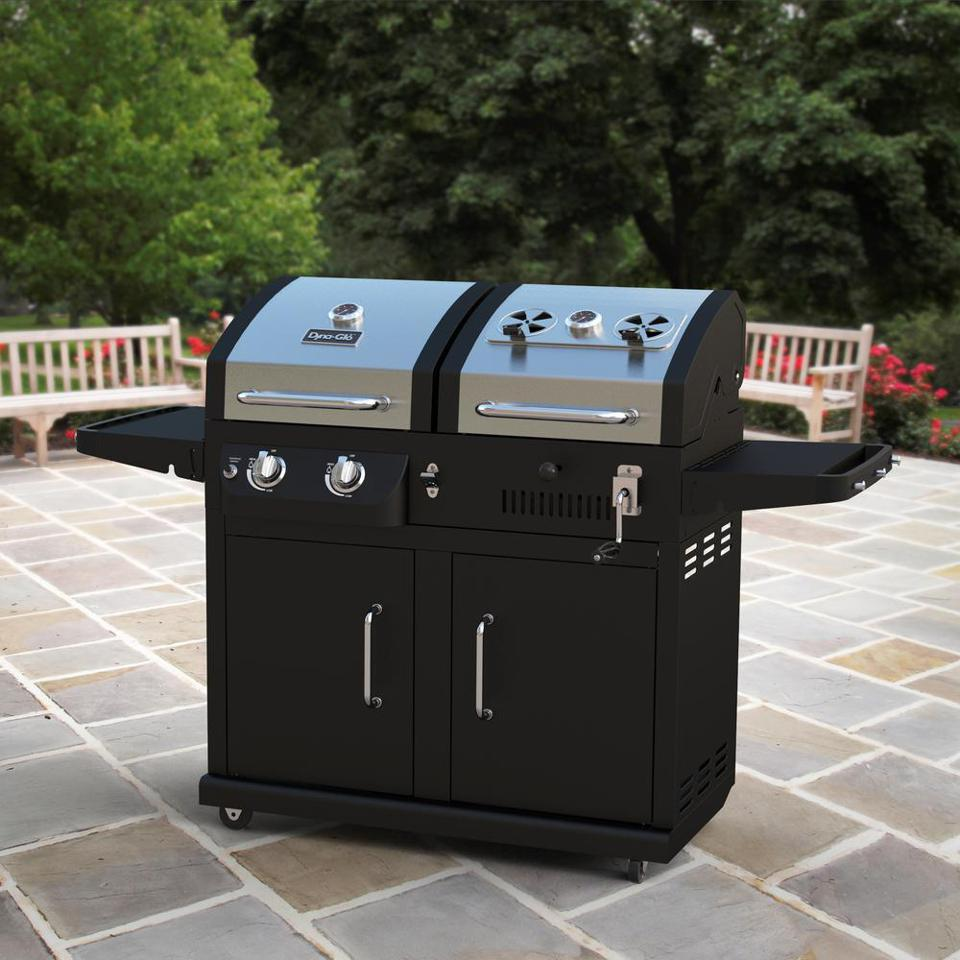 Dyna-Glo Dual Function 2-Burner Propane Gas and Charcoal Grill