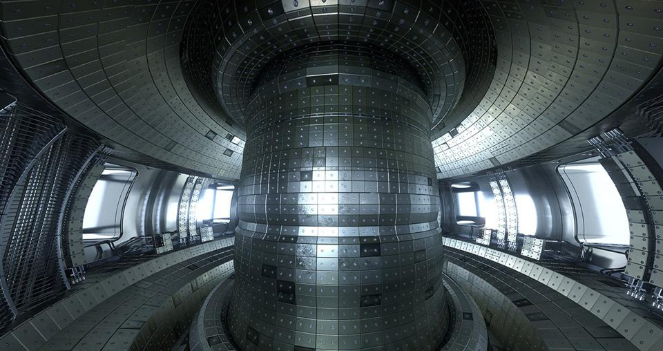 Artist's impression of a nuclear fusion reactor, or tokamak.