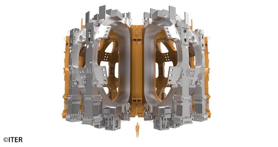 Each field magnet in the ITER tokamak is as tall as a six-story building.