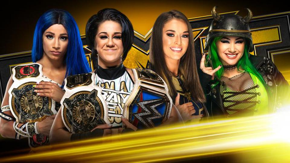 Main roster stars Bayley and Sasha Banks were featured in the main event of WWE NXT.