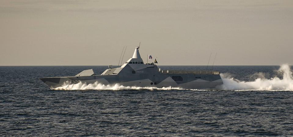 Swedish Navy Visby Class stealth corvette
