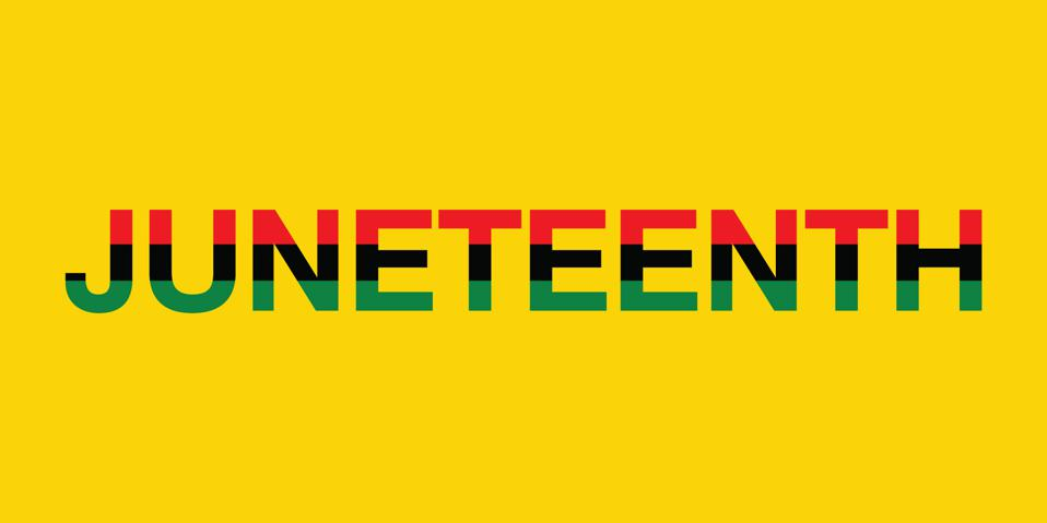 an image of the words Juneteenth which is an official annual company holiday  for Target.inc