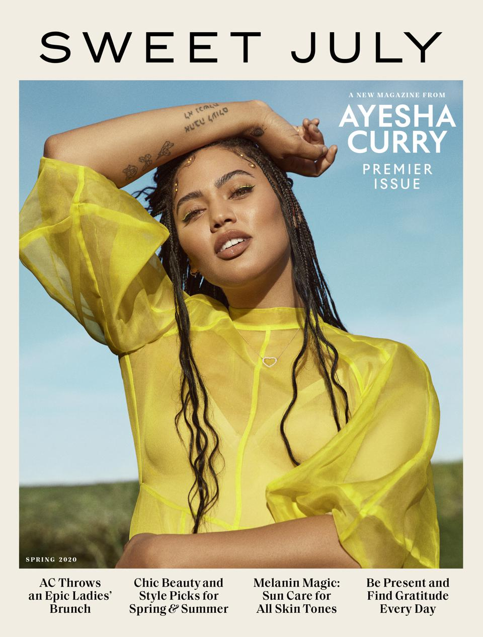 Ayesha Curry's first Sweet July cover.