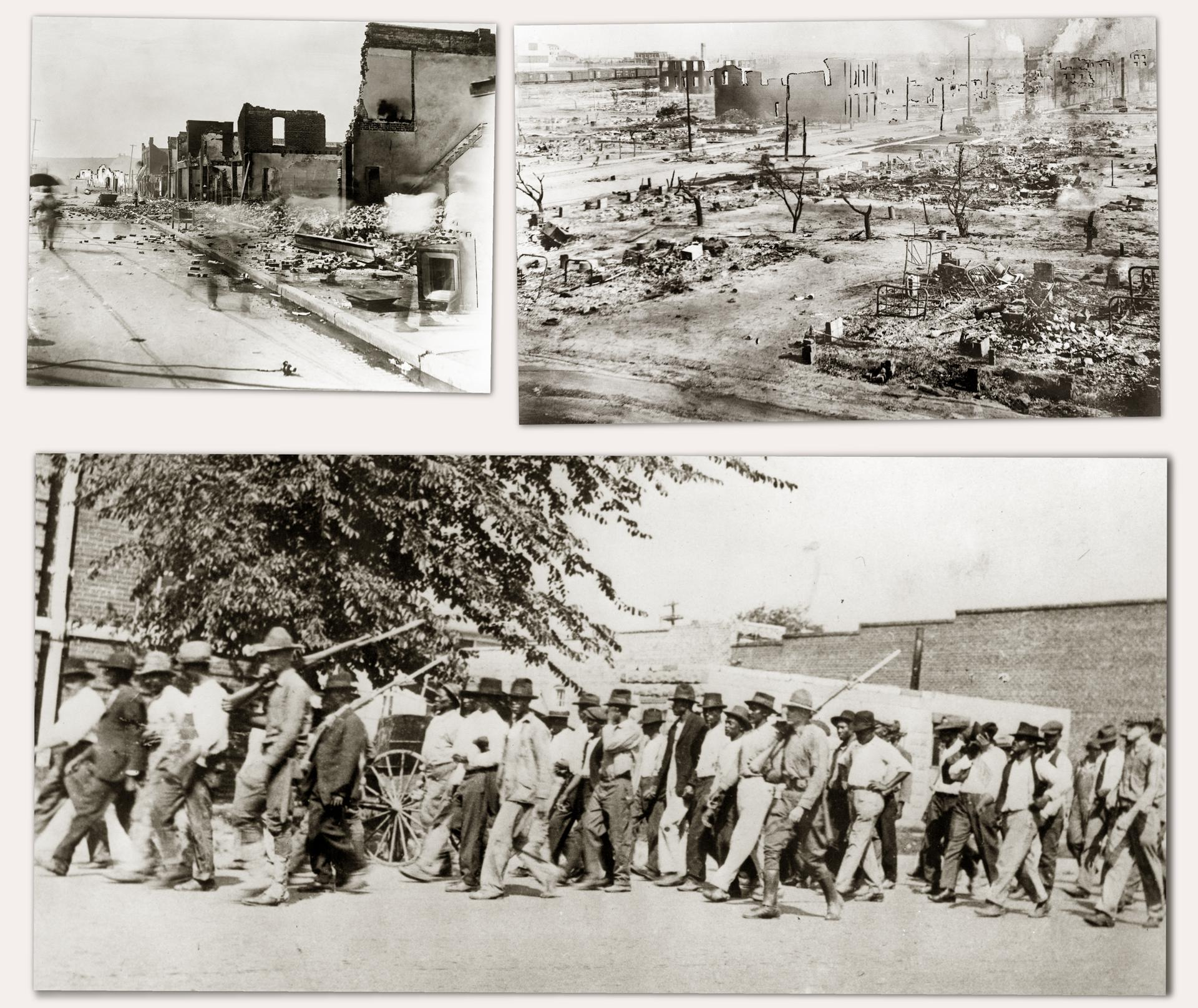 Paradise Lost: After the destruction of Greenwood, surviving citizens were rounded up and sent to internment camps.