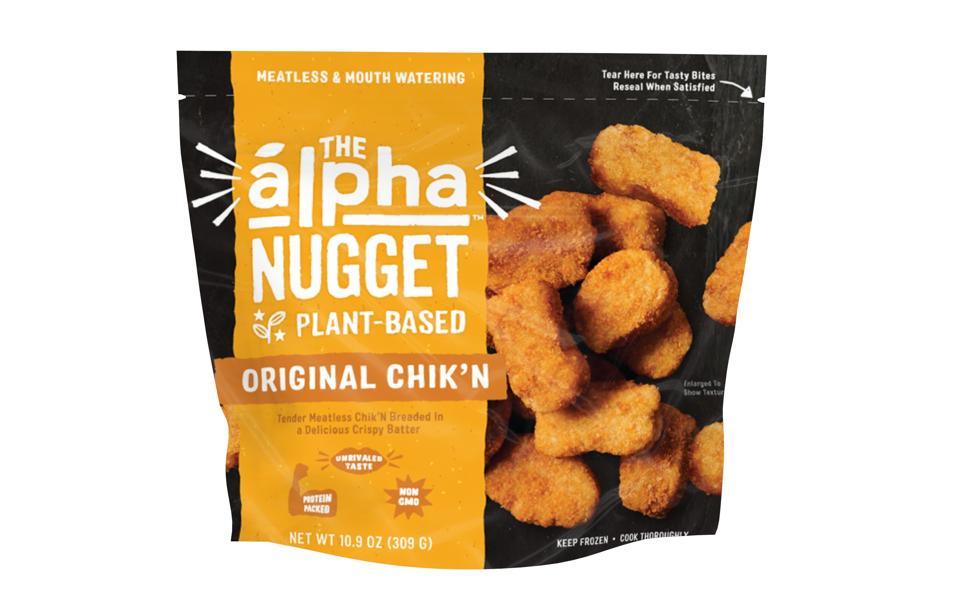 Alpha Foods The Alpha Nugget Original Chik'N Plant-Based Vegan Meat Alternative Meatless