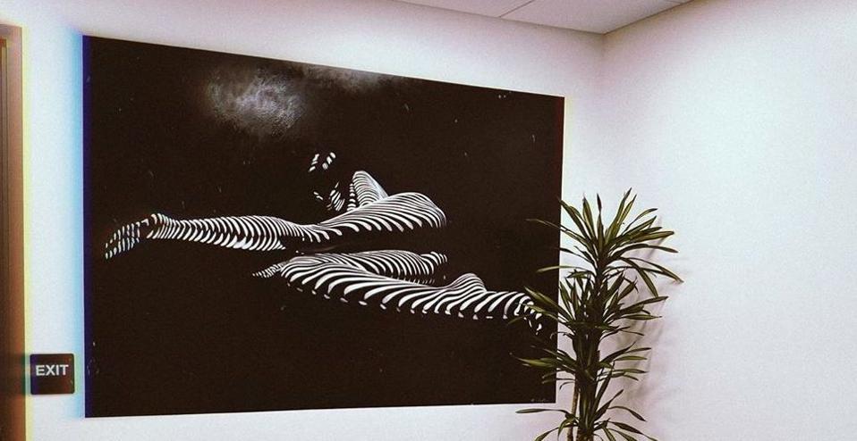 An original Holly Lo Moore mural