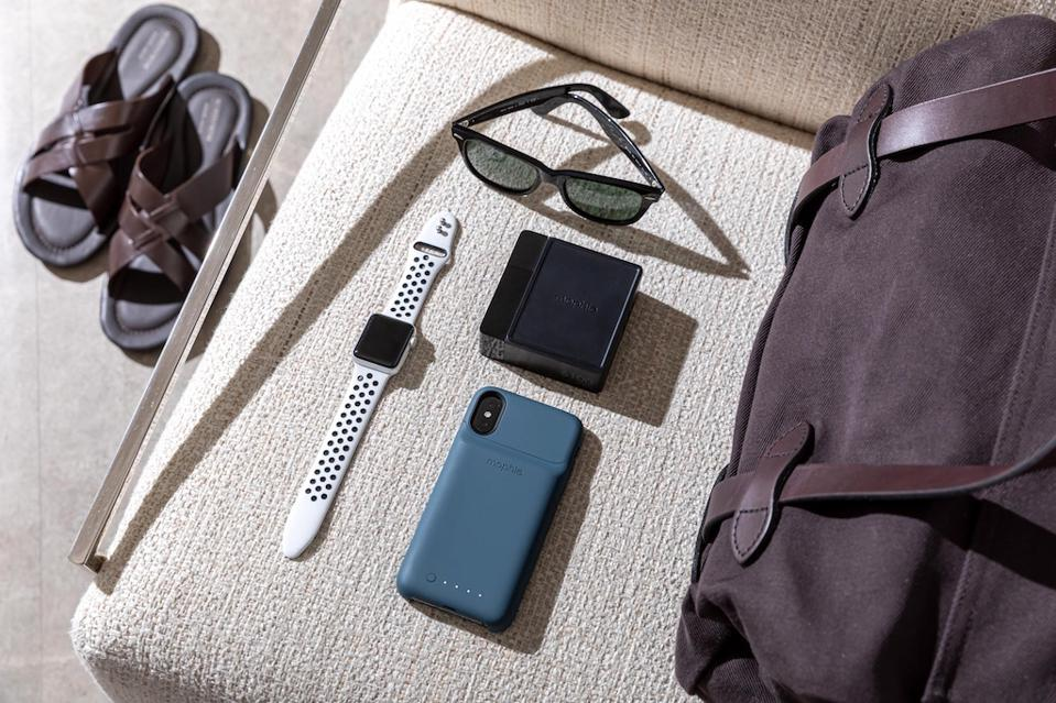 The Mophie Powerstation Hub is light and portable.