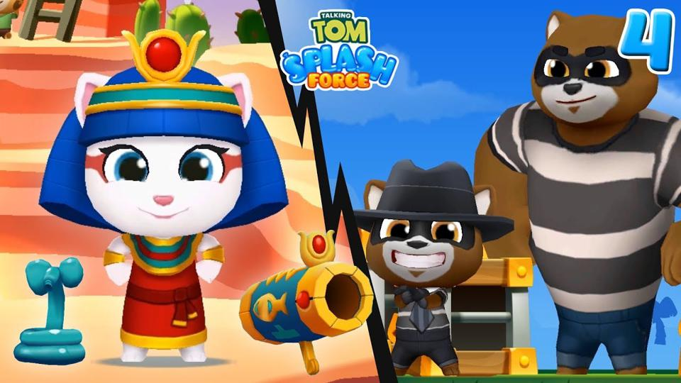 A screenshot from one of the Talking Tom mobile games from Outfit7.