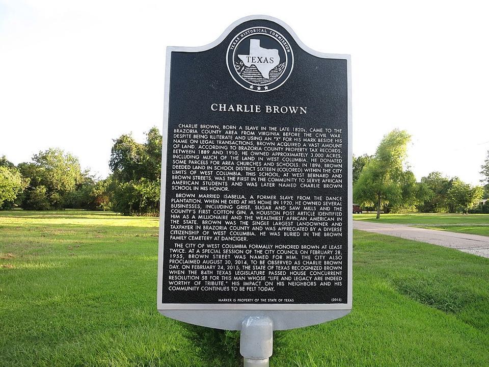 Charlie Brown historical marker.