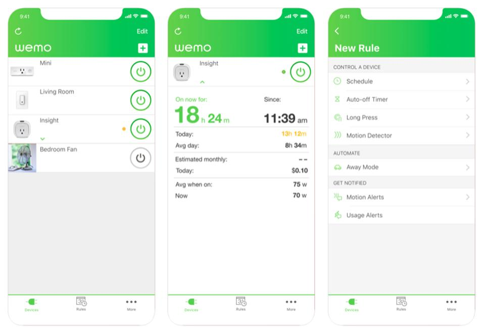 The WeMo app from Belkin
