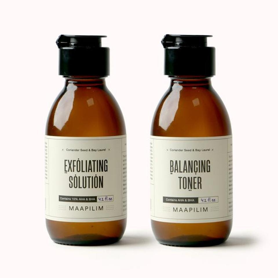 Exfoliating Solution and Balancing-Toner